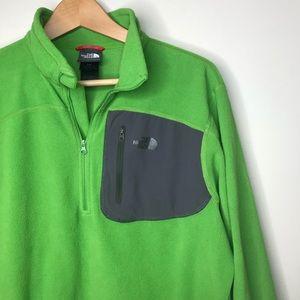 The North Face Sz M Green Quarter Zip Sweater